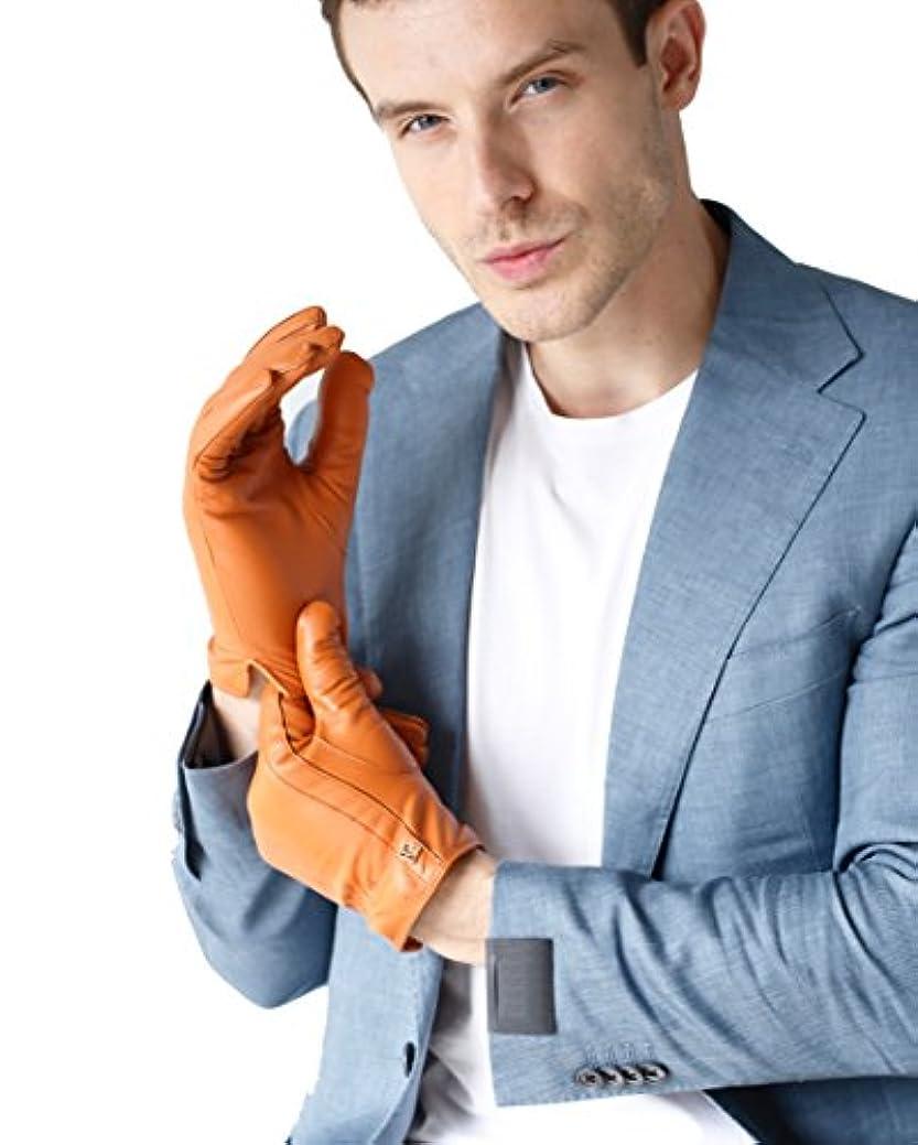 ホールドオールマスク過半数メンズ 男性用 本革 羊革 手袋 スマホ対応 手作り 運転 ドライブ グローブ ロングフリース ライニング