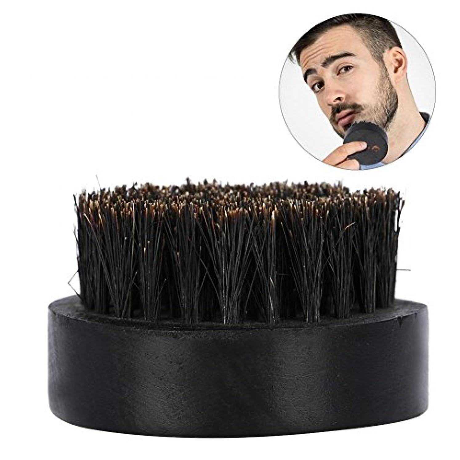 縮約ずんぐりした見せますひげブラシ、シェービングブラシメンズひげグルーミングキット理髪ブラシ口ひげクリーニングブラシヘアシェービングキット
