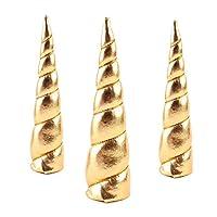 Baosity ユニコーンホーン おもちゃ DIY ユニコーン ホーン ヘッド パーティー ヘッドバンド 髪飾り ヘアアクセサリー 17色選べる - ゴールド