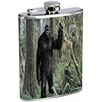 Bigfoot Flask D1 8oz Stainless Steel Sasquatch Yeti Folklore by Perfection In Style