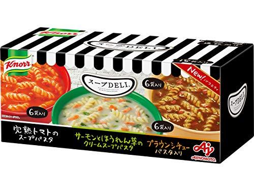 クノール スープDELI バラエティボックス 18袋入 トマト/サーモンとほうれん草/ブラウンシチュー