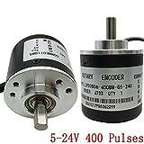 エンコーダー 元 AB 相 5-24v 400 パルス 増分の光学式ロータリーエンコーダー 本体サイズ 39 * 35.5 mm NPN 出力