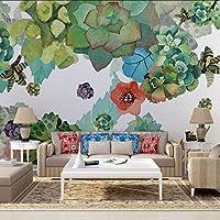 Lixiaoer カスタム壁画3Dステレオファッション花壁画寝室リビングルームテレビの背景壁紙壁画-350X250Cm