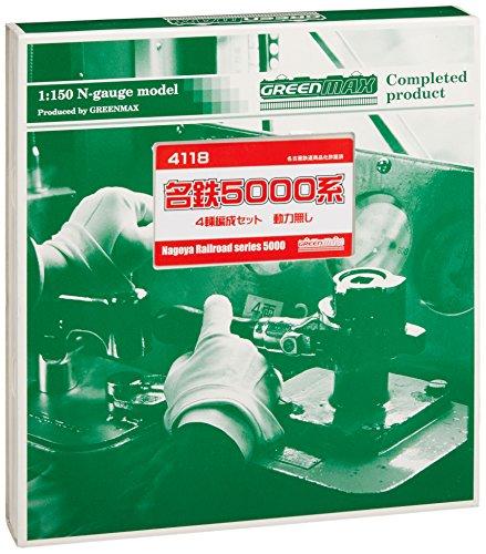 Nゲージ 4118 名鉄5000系 増結4輛 (動力なし) (塗装済完成品)