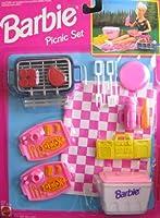 バービーPicnicセット–プレイセットW Barbecue &グリル, Food & More 。( 1993Arcotoys, Mattel )