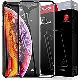 RANVOO iPhone XS Max ガラスフィルム 6D全面保護フィルム 外側PETで端が割れにくい 日本製素材旭硝子製 耐衝撃性能5倍 最強硬度9H キズ防止 ガイド枠付き 貼り付けスムーズ 高透過率 指紋防止