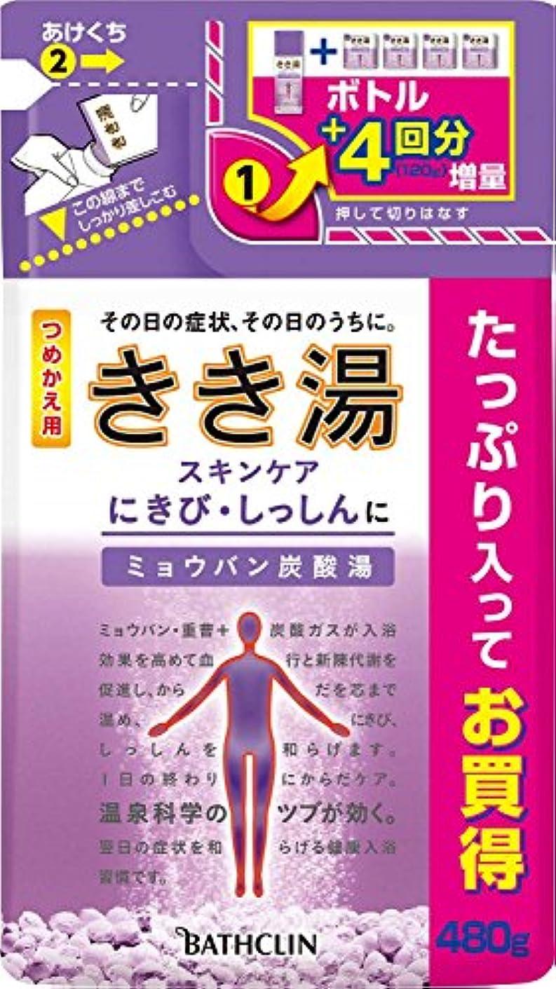 論文キャプチャー米ドルきき湯 ミョウバン炭酸湯 つめかえ用480g 入浴剤 (医薬部外品)