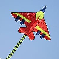 Kufox 凧 赤くて、大きい飛行機のシリーズの凧 サイズ:145 x 100CM 尻尾の長さ:3m 精細な手際 微風でも揚げられる 速いスピード 線を巻くノブと長さの91Mの線が付く 親と子供が一緒に遊ぶ時は一番