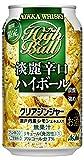 【期間限定】ニッカ淡麗辛口ハイボールクリアジンジャー 缶 [ ウイスキー 日本 350ml×24本 ]