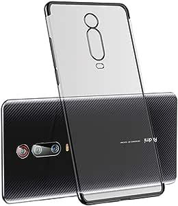 高級電話ケース超薄型3セクションメッキソフトシリコンカバー透明TPUシェル Xiaomi Redmi K20 / K20 Pro/Mi 9T Pro Mi9T Pro 黒
