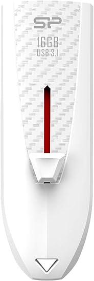 シリコンパワー USBメモリ 32GB 高速 USB3.0 スライド式 ホワイト 永久保証 カーボン素材 B25 SP032GBUF3B25V1W