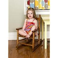 オーククラシック子供のロッキングチェア木製幼児用インドアアウトドアトイギフトシート