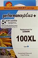 IJR - Performance Plus 100XL Lexmark Inkjet Cartridge Cyan [並行輸入品]