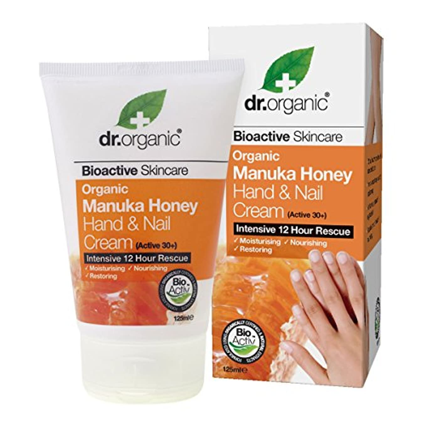 地中海疑わしいしかしDr.organic Organic Manuka Honey Hand And Nail Cream 125ml [並行輸入品]