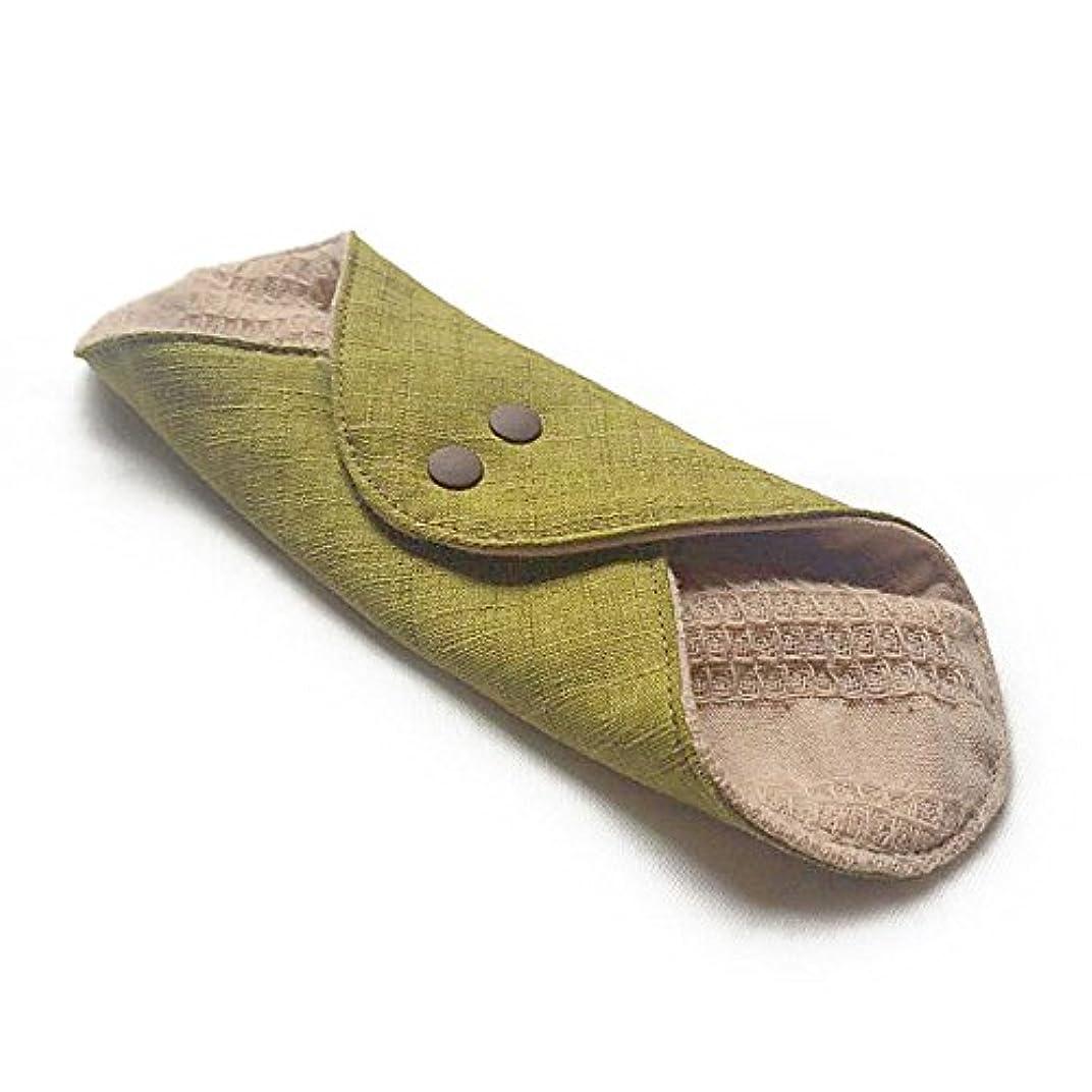 災難フェッチリマーク華布のオーガニックコットンのあたため布 Mサイズ(約15×約15cm) 彩り(抹茶)
