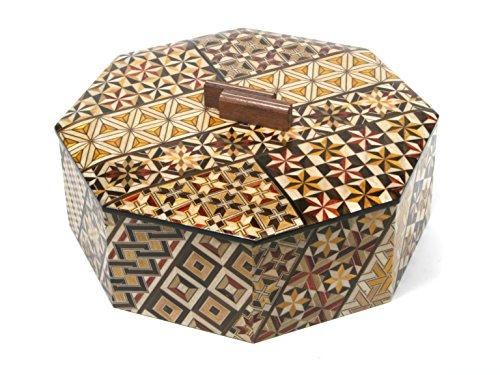 寄木細工 八角菓子器