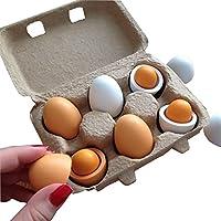 Wooden Kitchen Toys Pretend Play Food Eggs Baby Toys Set Yolk Food Eggs Preschool Wood Toys for Girls Children Gift