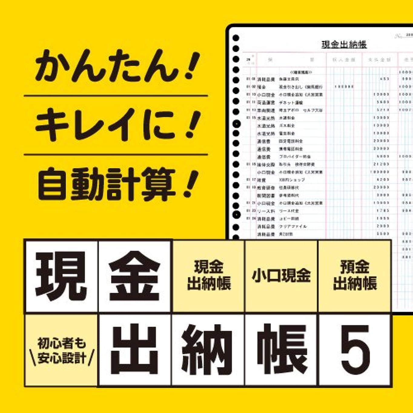 急流光沢のあるプレゼンテーションデネット 現金出納帳5