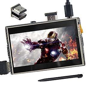 """OSOYOO(オソヨー) HDMI 3.5インチLCDディスプレイ モニター タッチスクリーン 1920x1280ハイビジョン Raspberry Pi 3 2 Model B に対応 (3.5"""" HDMI LCD)"""
