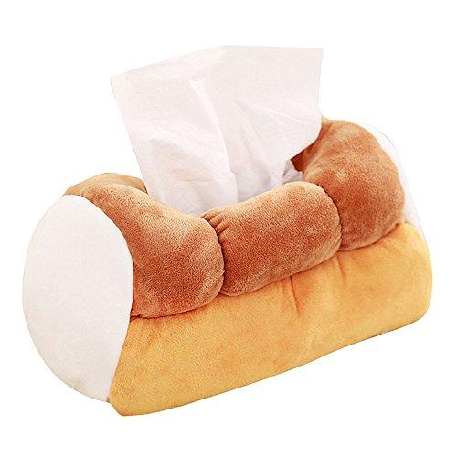 トーストパン ティッシュ ケース ポケットサイズ  縦約15cm、横約25cm、高さ約15cm