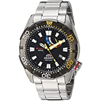 Orient Men 's ' m-force Bravo ' Japanese AutomaticステンレススチールDiving Watch , Color : silver-toned (モデル: sel0a001b0)