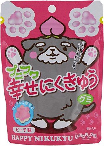 扇雀飴 プニフワ幸せにくきゅうグミピーチ味 57g×6袋