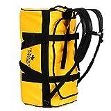 北欧スウェーデン発「The Friendly Swede」60L 2WAY ダッフルバッグ 旅行バッグ スポーツバッグ (耐水仕様) (黄色 60L)
