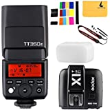 Godox TT350F TTL Fujifilm Fuji Speedlite 2.4G HSS 1/8000s GN36 Camera Flash Speedlite for Fuji Digital Camera + Godox X1T-F TTL Camera Flash Trigger Transmitter 2.4G for Fuji Fujifilm X-Pro2 X-T20 X-T2 X-T1 X-Pro1 X-T10 X-E1 X-A3 X100F X100T