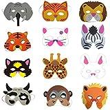 Toyvian 12個の泡の動物のマスクの子供たちは子供のためのマスクをドレスアップ子供の誕生日パーティーの衣装(ランダムパターン)