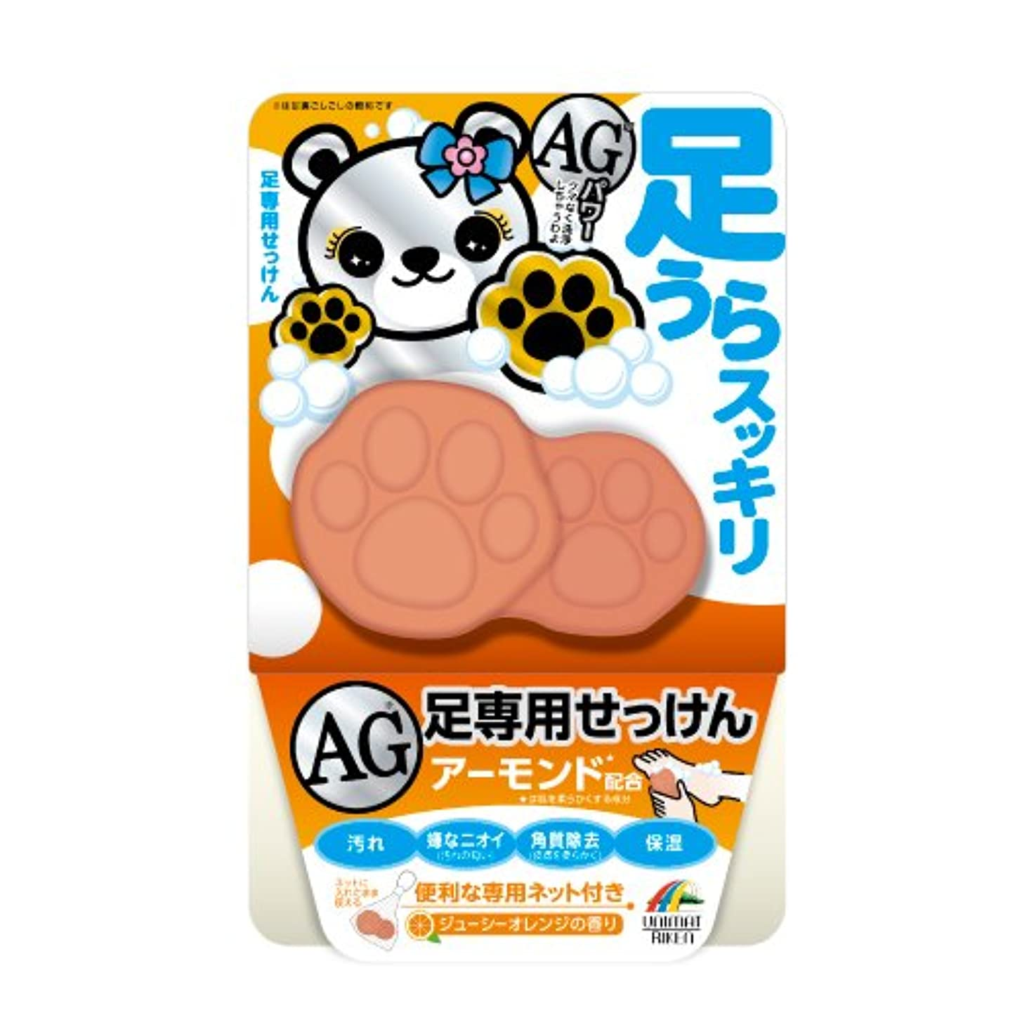 ユニマットリケン 足裏スッキリAG石鹸(アーモンド配合)70g