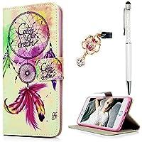 ZSTVIVA iphone 7 plus財布型ケース、プレミアムPUレザー磁気フリップカバーキュートスタイルソフトTPUバンパー内蔵カードスロットスタンドホルダー付きサイドポケットfor iPhone 7 Plus – Romantic Dream Catcher VZHzs196961t