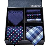 (ヒスデン) HISDERN メンズ 洗える ネクタイ ハンカチ 3本 セット 収納BOX 付き ビジネス結婚式 就活 プレゼント 様々なセットを選べる TB3005