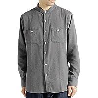 (モノマート) MONO-MART L/S 起毛 フランネルシャツ ボタンダウン バンドカラー 長袖 シャツ MODE メンズ