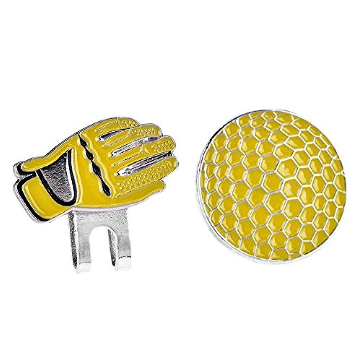 コンプライアンス組み合わせるバルコニーボールマーカー付きポータブルミニステンレススチールグローブ磁気ゴルフハットクリップ ボールマーカー 2色選べる
