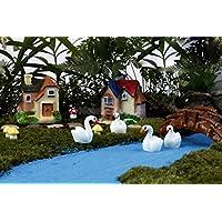 10pcs swan-2x2cm Miniature Dollhouse Fairy Garden Yard Bonsai Landscape Figurine DIY Decoration
