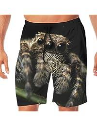 メンズ水着 ビーチショーツ ショートパンツ 蜘蛛くも昆虫 スイムショーツ サーフトランクス 速乾 水陸両用 調節可能