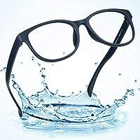 LifeArt(ライフ・アート) ブルーライトカット(透明レンズ)PCメガネ 青色光カットメガネ 輻射防止 視力保護 睡眠改善 目の疲れを緩和する ダテPCメガネ ファッション(+2.00,青)