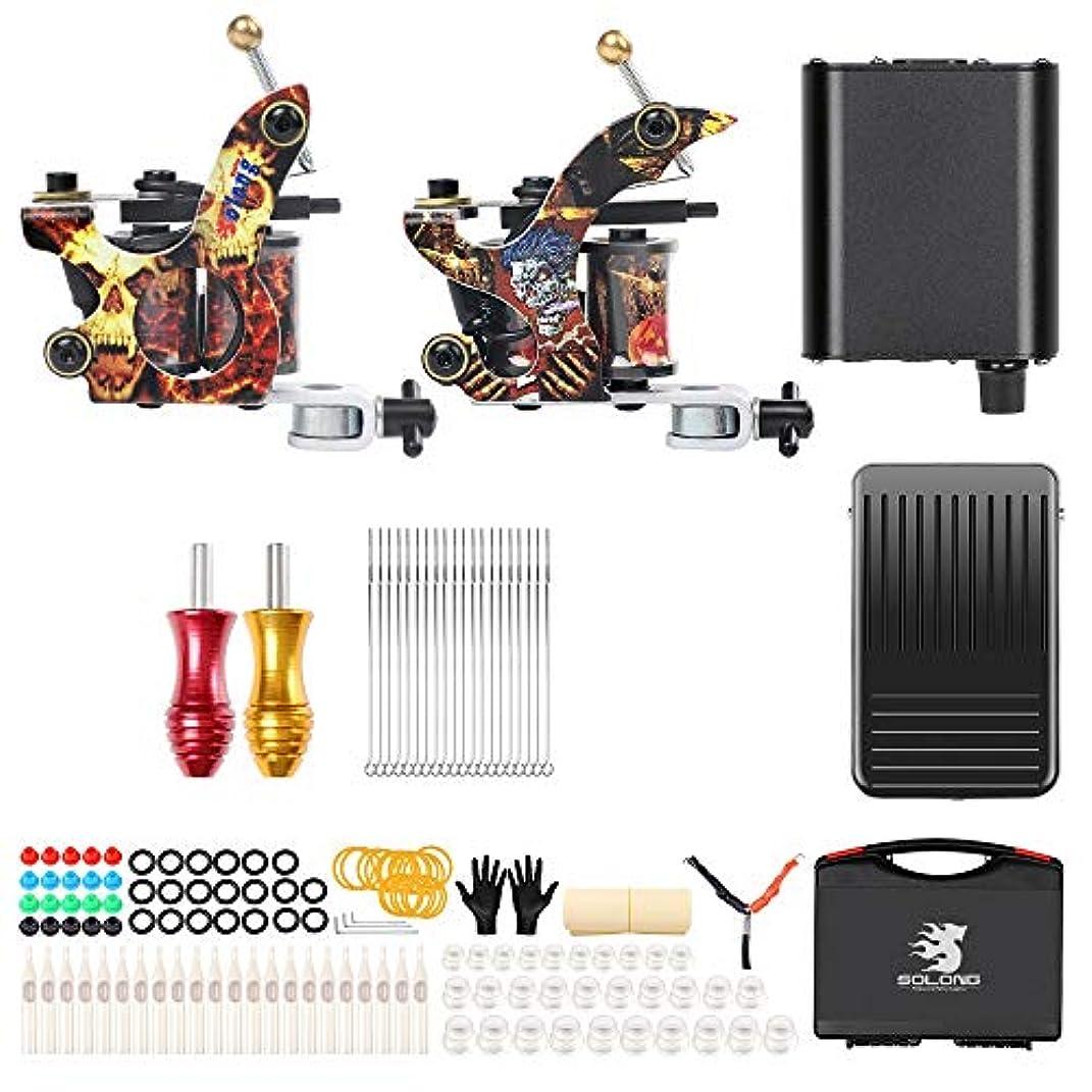 十分に代数的鉄ライナーおよびシェーダー電源グリップニードル用キャリーケース、TK215タトゥー初心者用コイルマシン供給キット