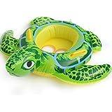 ベビー 赤ちゃん 子供用 持ち手付き 浮き輪 可愛い キュート亀 足入れ 水遊びに大活躍 夏の必需品