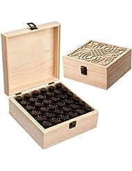 Newfashion エッセンシャルオイル収納ボックス 精油収納 アロマケース 木製 大容量 携帯便利 オイルボックス 飾り物 36本用