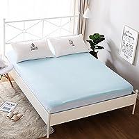 フィットベビーベッドシート幼児ベッドセット青い赤ちゃんの寝具通気性薄くて軽い防水通気性のしわ抵抗キングサイズ ( 色 : 青 , サイズ さいず : 180*200+30cm )