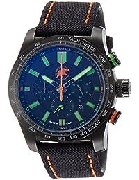 [ハンティングワールド]HUNTING WORLD 腕時計 スーパークロノマジック クォーツ ブラック×グリーン文字盤 10気圧防水 HW025BBKG メンズ 【正規輸入品】