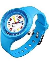 子供 腕時計 キッズ スポーツ 小学生 かわいい おしゃれ こども用 女の子 男の子 防水デジタル アナログ 時計 プレゼント かっこいい ミミコウ (青)