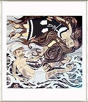 ポスター エバン ハリス barnacles & butterflies 額装品 アルミ製ベーシックフレーム(ライトブロンズ)