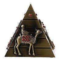 Lovoski 金属 手工芸品 エジプト ピラミッドモデル ビルディングモデル ホーム 本棚 装飾品