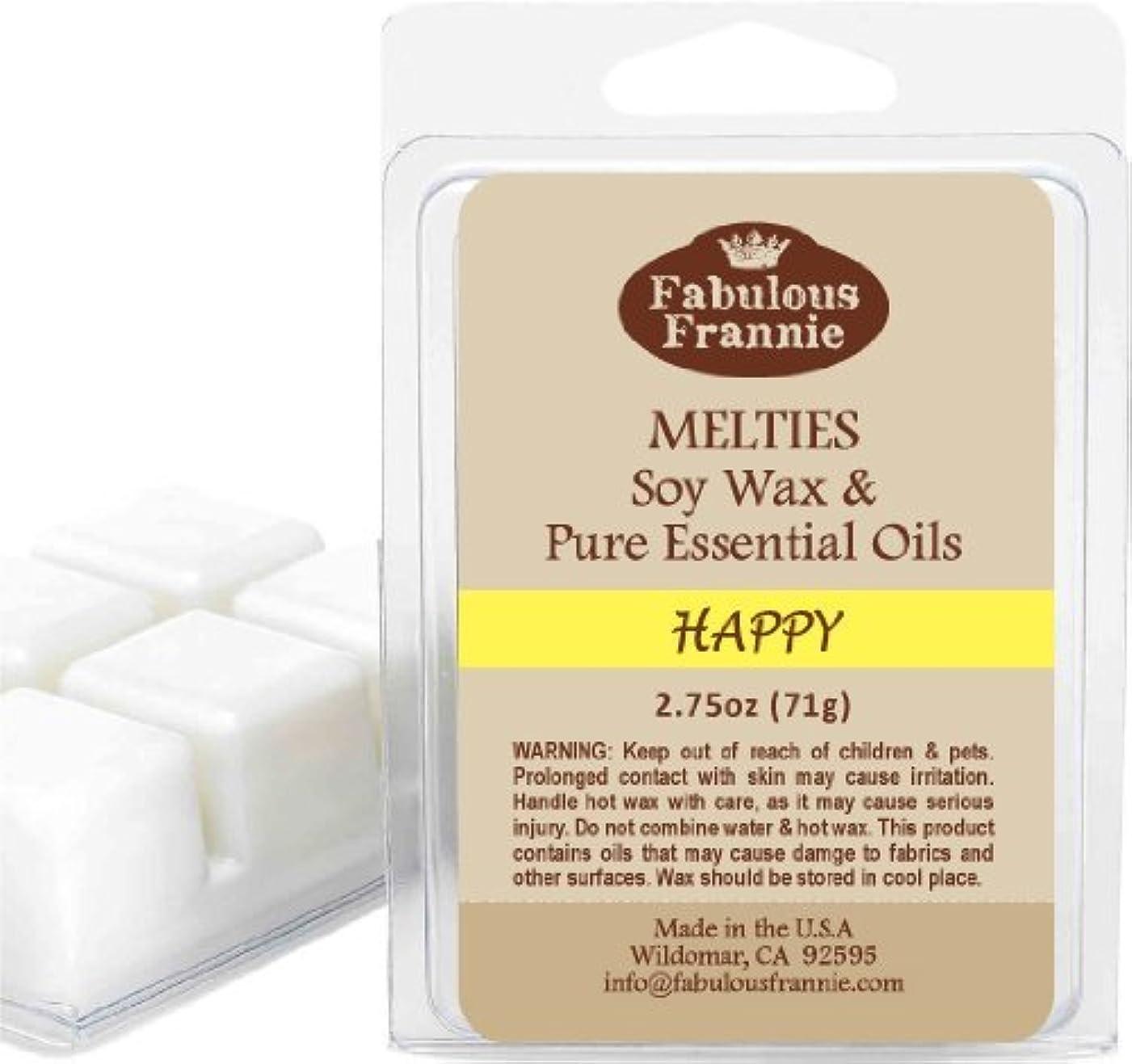 警戒ワーディアンケース同じHappy 2.5 Ozの100 % Pure & Natural Soy Candle Meltie / Tart / Melts made with Pureベルガモット、グレープフルーツ、Ylang Ylang Essential...