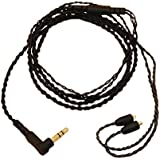 GAOHOU ブラックMMCXイヤホンケーブルDIY WESTONE W10 / W20 / W30 / W40 / W50 / W60 / W80 / UE900用