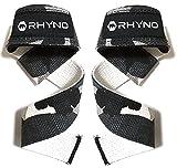 RHYNO(ライノ) リストストラップ リフティングストラップ/トレーニング 筋トレ サポーター/選べる色 (ブラック迷彩)
