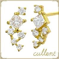 [カレン] cullent K18 ダイヤモンド ピアス ornament ピンクゴールド