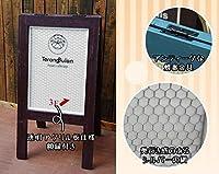 【かわいい看板】 かわいい網スタンド看板 (White) かわいい おしゃれ アンティーク 看板